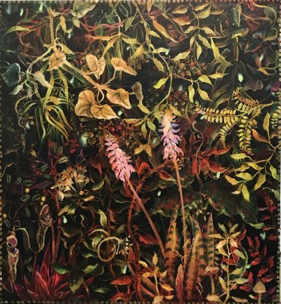 Nicola-Bealing-Jungle-with-Four-Monkeys-400x433 Nicola Bealing, Jungle (with Four Monkeys)