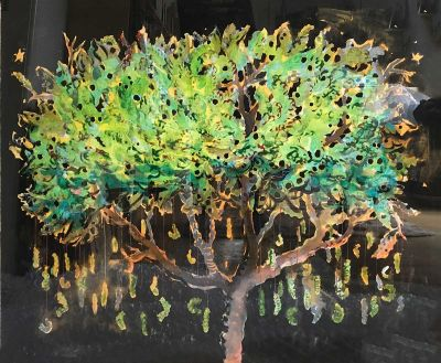 nicola-bealing-Caterpillar-Tree-400x329 Works on paper