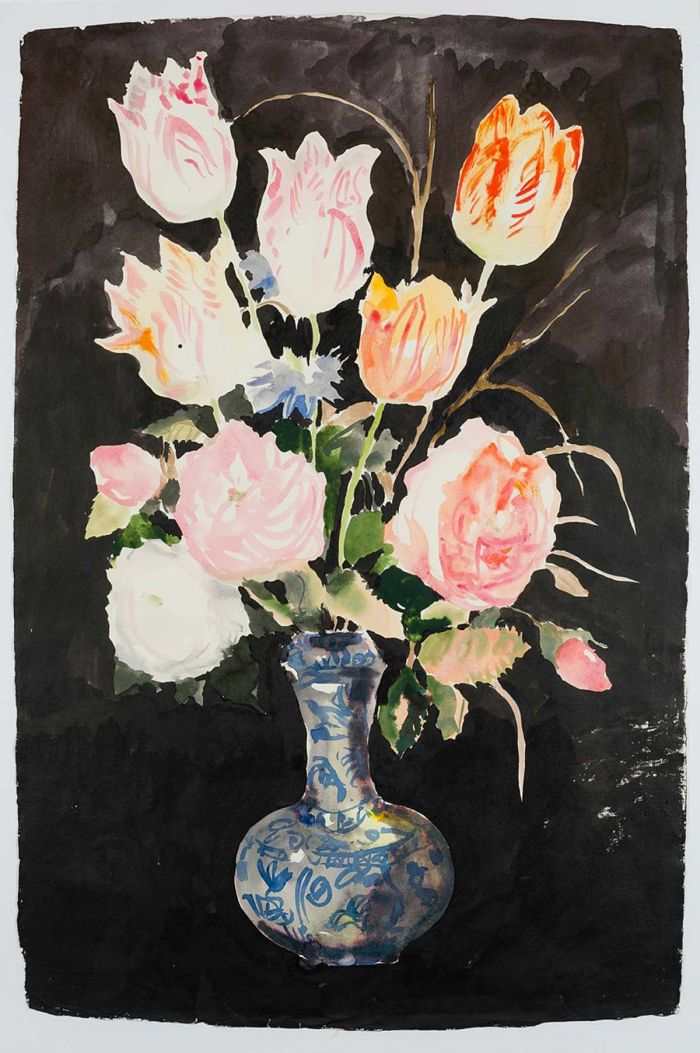 nicola-bealing-Flowers-in-a-Chinese-Vase