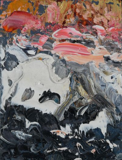 Sea-at-Sunset-1-400x524 Maggi Hambling, Sea at Sunset I