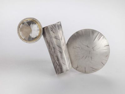 catherine-mannheim_46412321434_o-400x300 Catherine Mannheim Brooch Silver with Rock Crystal