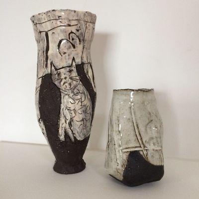 ClementinavanderWalt-400x400 Clementina van der Walt Scratched cat vase