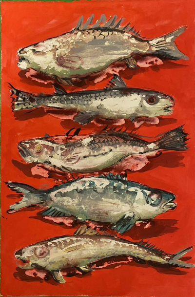 nicola-bealing_Red-Fish-400x608 Nicola Bealing, Red Fish (Gouache)